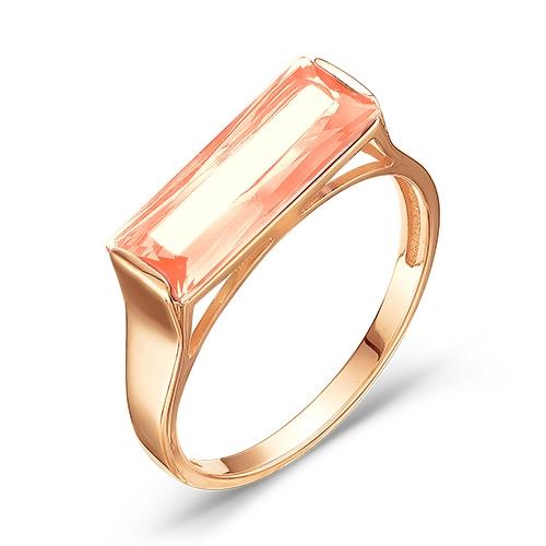 100-1046 золотое кольцо c морганитом