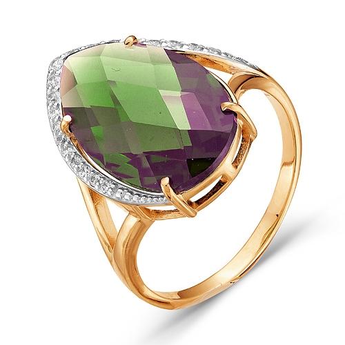 100-894 золотое кольцо c султанитом