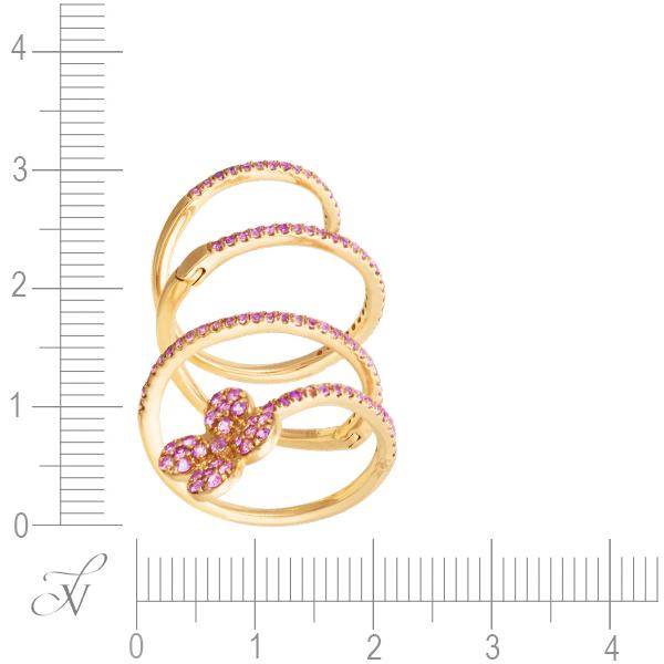 Кольцо из розового золота 585 пробы с сапфирами