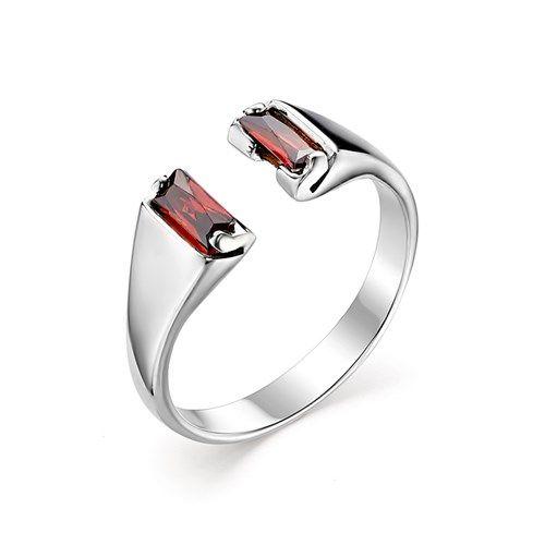 01-0428/ЮСГР-00 серебряное кольцо c гранатом