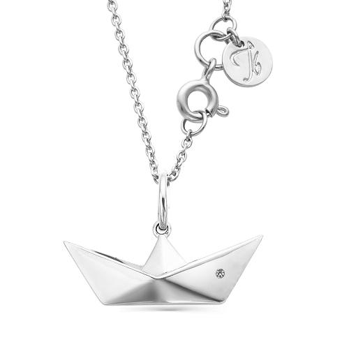 Колье из серебра с бриллиантом Кл610-2586 Ювелирные традиции