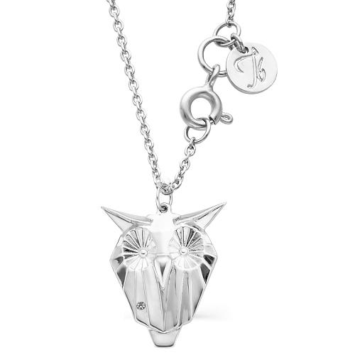 Колье из серебра с бриллиантом Кл610-2593-45 Ювелирные традиции