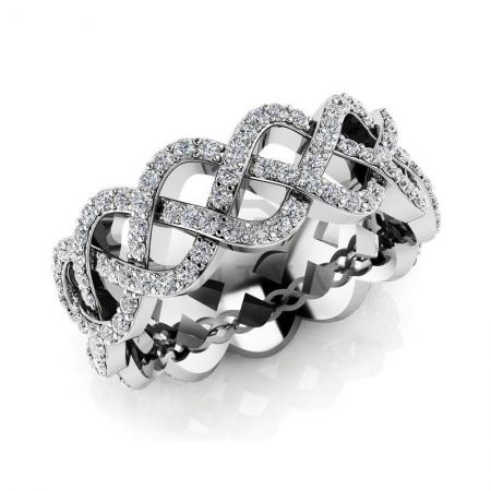Т-11841 модное кольцо с бриллиантами из белого золота