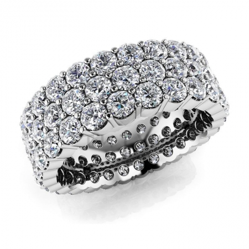Т-11553 обручальное кольцо из белого золота с бриллиантами