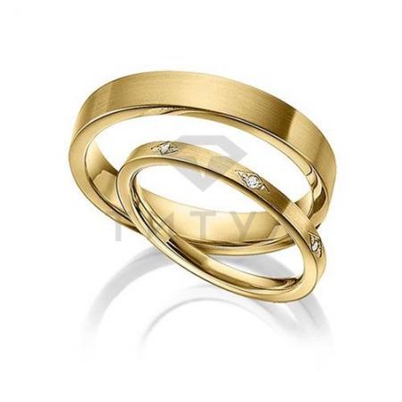 Т-37137 золотые парные обручальные кольца (цена за пару)