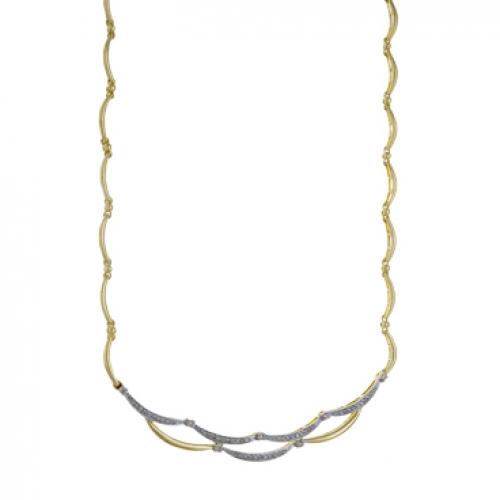 Т-30503 золотое колье c бриллиантами