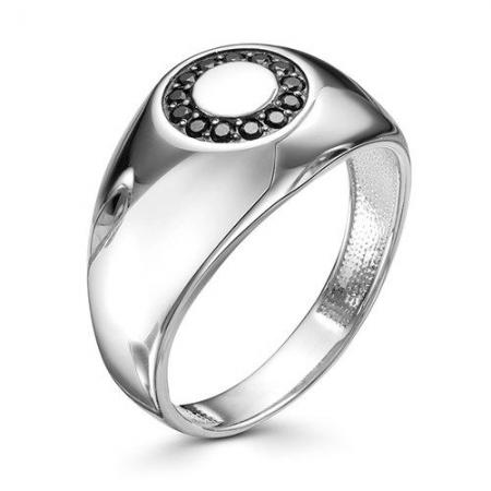 01-0585/00КЦ-00 серебряное кольцо c фианитом
