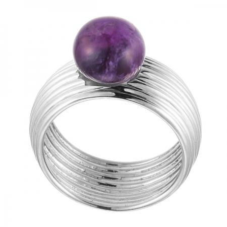 Кольцо из серебра 925 пробы с аметистом