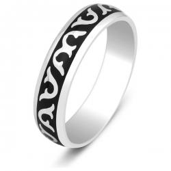 Эксклюзивное обручальное кольцо с эмалью Русский Стиль