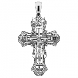 Крупный мужской крест из белого золота