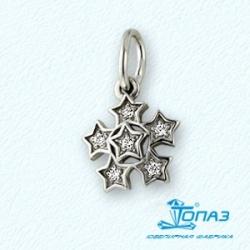 Подвеска Звезды из белого золота с бриллиантами