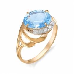 Кольцо из красного золота с топазом Swiss