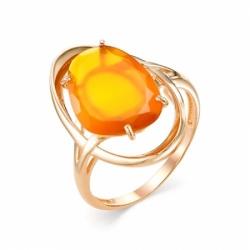 Кольцо из красного золота с Халцедон