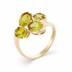 Кольцо из красного золота с султанитом