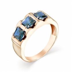 Мужское кольцо из красного золота с топазом Лондон