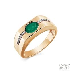 Мужское кольцо из золота с агатом