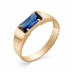 Мужское кольцо из красного золота с корундом