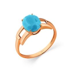 Кольцо из золота c бирюзой