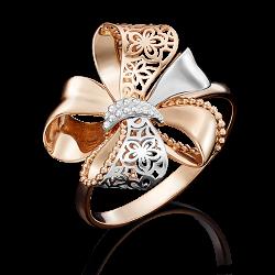 Золотое кольцо с лазерной гравировкой