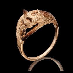 Золотое кольцо с эмалью