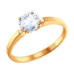 Золотое кольцо c фианитами SOKOLOV