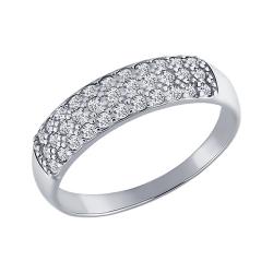 Кольцо из белого золота c фианитами SOKOLOV