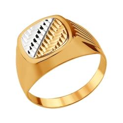 Мужское кольцо из золота без камней SOKOLOV