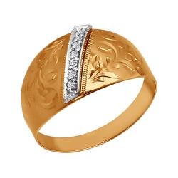 Кольцо из золота c фианитами SOKOLOV