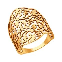 Кольцо Ажурное из золота без камней SOKOLOV (18 р-р)