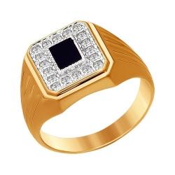 Мужское кольцо из золота с ониксом SOKOLOV