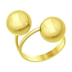 Женское кольцо из желтого золота без камней