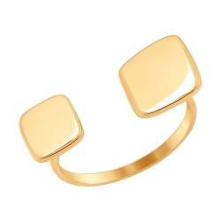 Золотое кольцо Геометрия без камней SOKOLOV