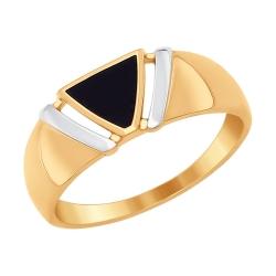 Золотое кольцо Геометрия (Эмаль) SOKOLOV