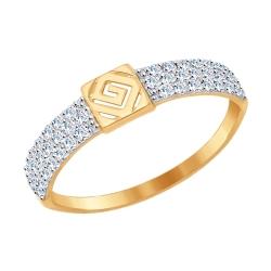 Золотое кольцо (Фианит) SOKOLOV (17.5 р-р)