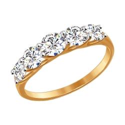 Золотое кольцо (Фианит) SOKOLOV