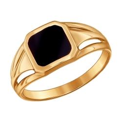 Мужское золотое кольцо без камней SOKOLOV