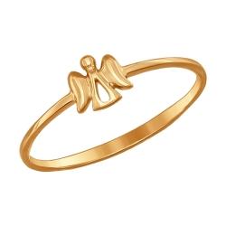 Золотое кольцо Ангелок без камней SOKOLOV