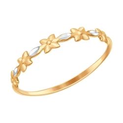 Золотое кольцо Цветы без камней SOKOLOV