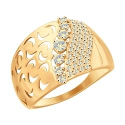Кольцо из золота с ситаллом