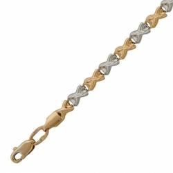 Браслет на ногу из комбинированного золота без камней