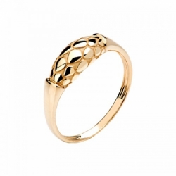 Женское кольцо Змея из красного золота без камней