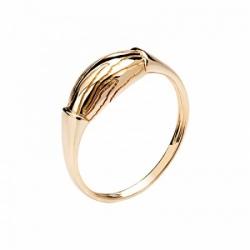 Женское кольцо Волк из красного золота без камней