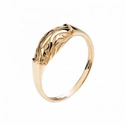 Женское кольцо Медведь из красного золота без камней