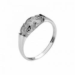 Женское кольцо Тигр из белого золота без камней
