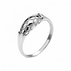 Женское кольцо Змея из белого золота без камней