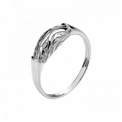 Женское кольцо Медведь из белого золота без камней