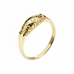 Женское кольцо Лиса из желтого золота без камней