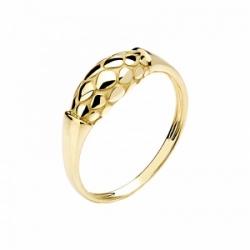 Женское кольцо Змея из желтого золота без камней