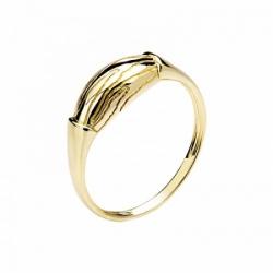Женское кольцо Волк из желтого золота без камней