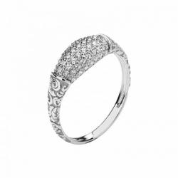 Женское кольцо Лиса из белого золота с фианитом